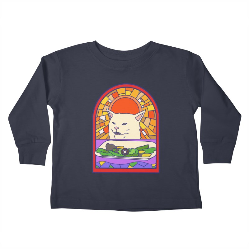 Vegan cat Kids Toddler Longsleeve T-Shirt by makapa's Artist Shop
