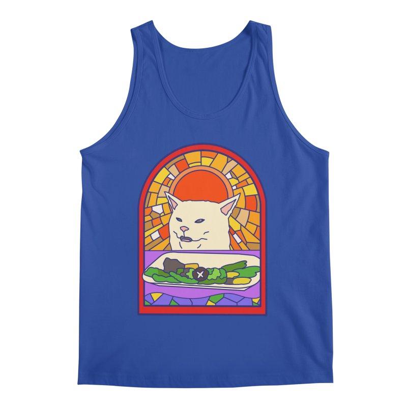 Vegan cat Men's Regular Tank by makapa's Artist Shop