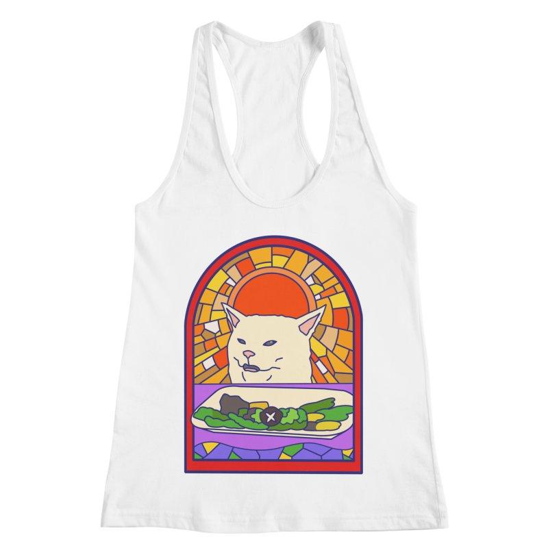 Vegan cat Women's Racerback Tank by makapa's Artist Shop