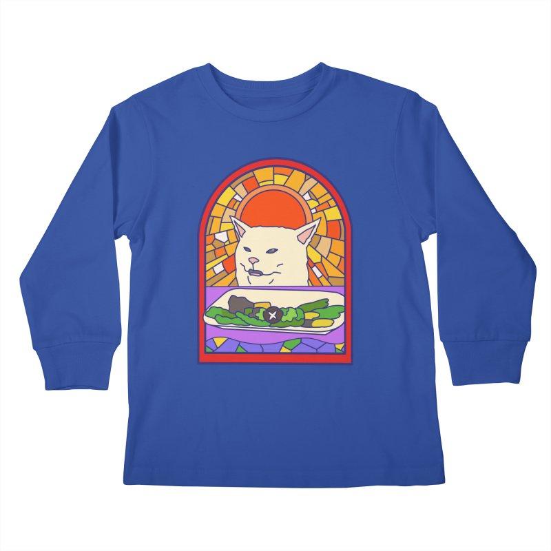 Vegan cat Kids Longsleeve T-Shirt by makapa's Artist Shop
