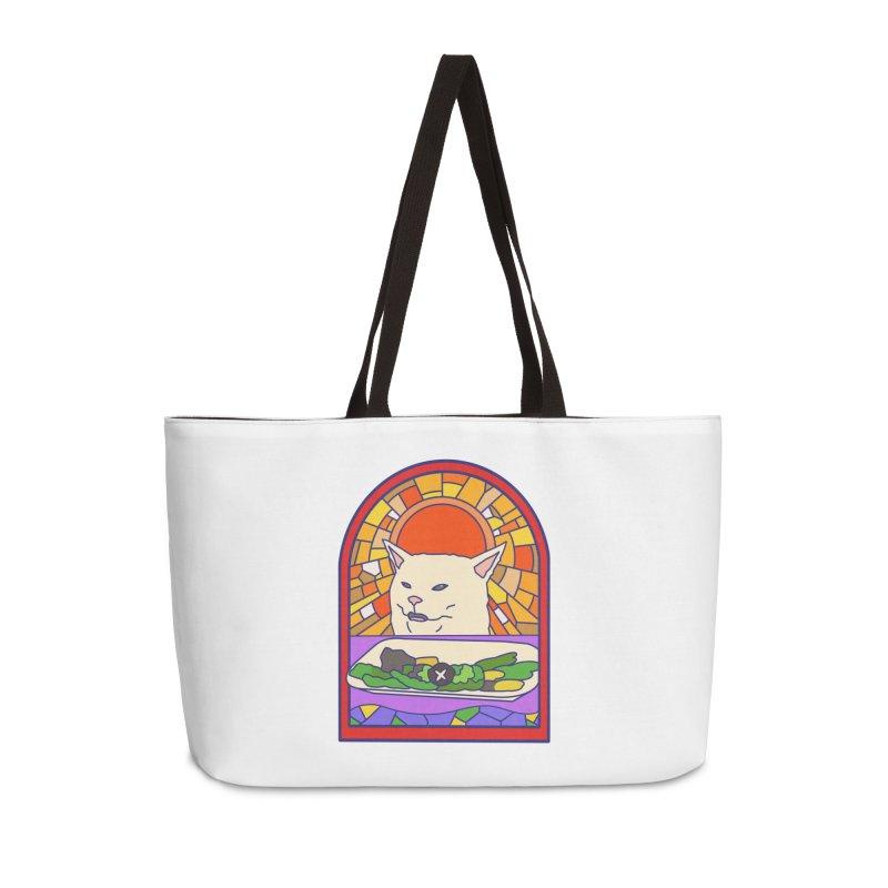 Vegan cat Accessories Weekender Bag Bag by makapa's Artist Shop