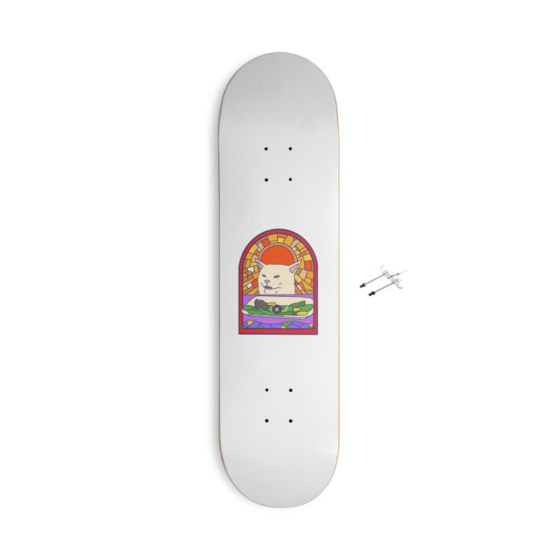 Vegan cat Accessories With Hanging Hardware Skateboard by makapa's Artist Shop