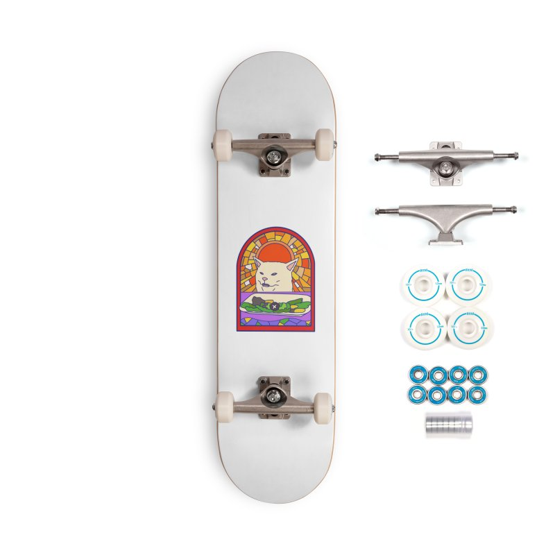 Vegan cat Accessories Complete - Basic Skateboard by makapa's Artist Shop