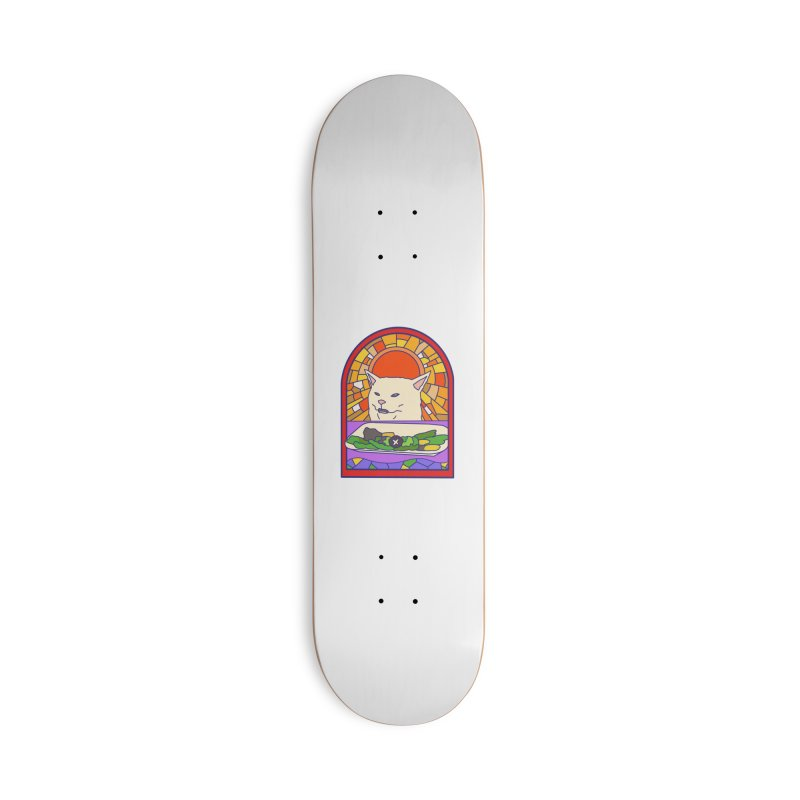 Vegan cat Accessories Deck Only Skateboard by makapa's Artist Shop