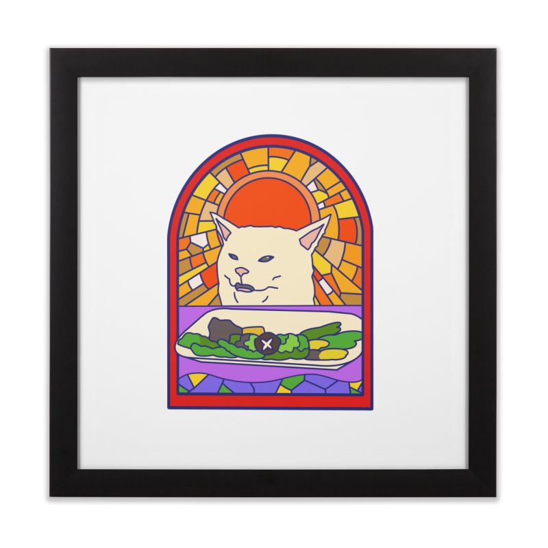 Vegan cat Home Framed Fine Art Print by makapa's Artist Shop