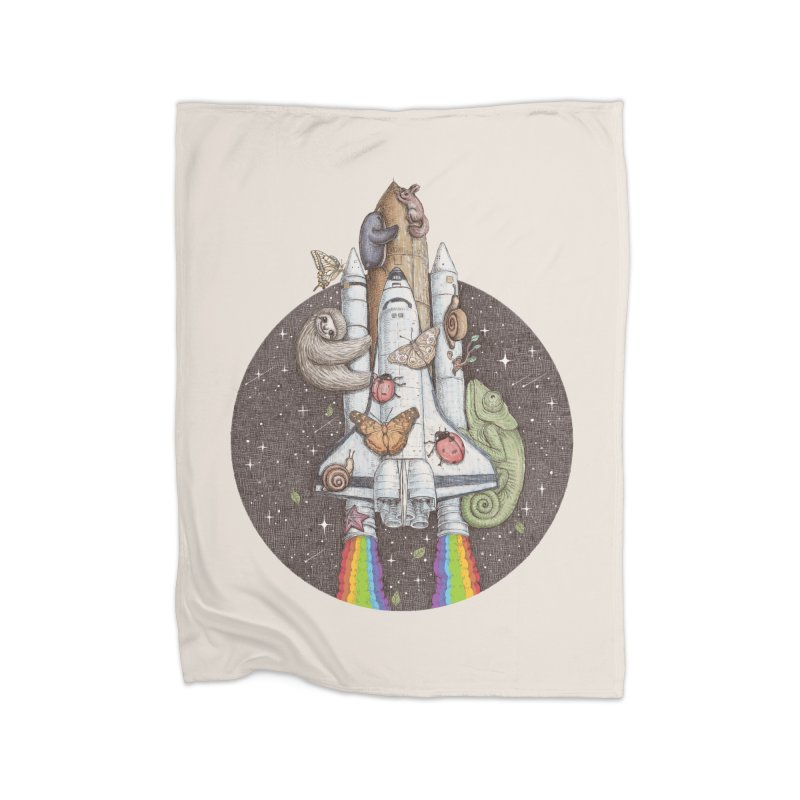 a trip to the moon Home Blanket by makapa's Artist Shop
