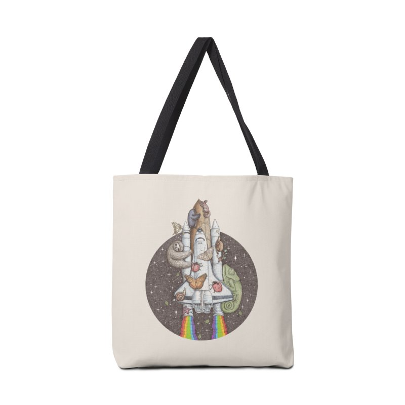 a trip to the moon Accessories Bag by makapa's Artist Shop