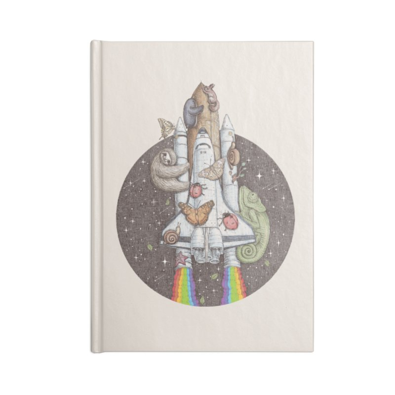 a trip to the moon Accessories Notebook by makapa's Artist Shop