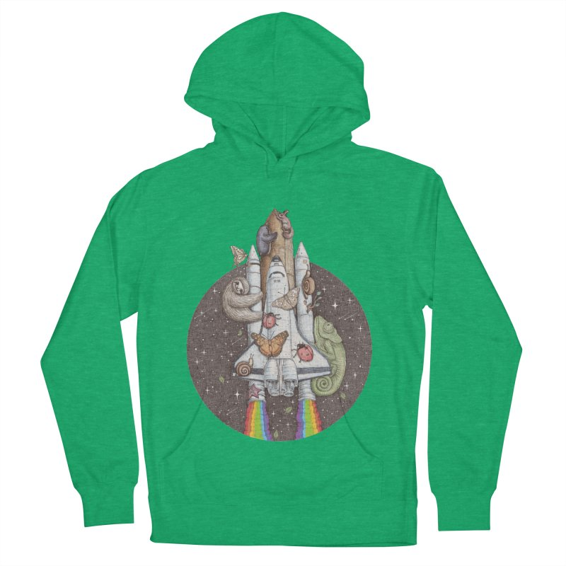 a trip to the moon Men's Pullover Hoody by makapa's Artist Shop