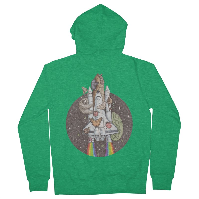 a trip to the moon Men's Zip-Up Hoody by makapa's Artist Shop