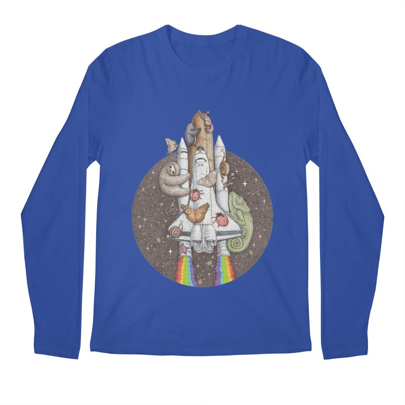 a trip to the moon Men's Longsleeve T-Shirt by makapa's Artist Shop