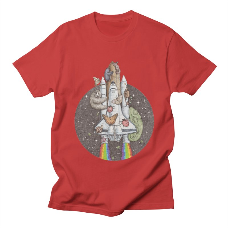 a trip to the moon Women's Unisex T-Shirt by makapa's Artist Shop