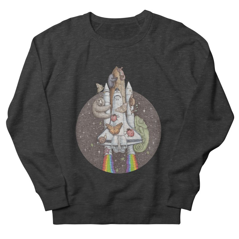 a trip to the moon Men's Sweatshirt by makapa's Artist Shop