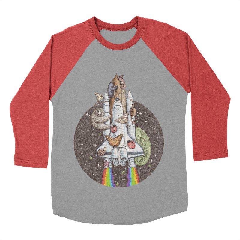 a trip to the moon Women's Baseball Triblend T-Shirt by makapa's Artist Shop