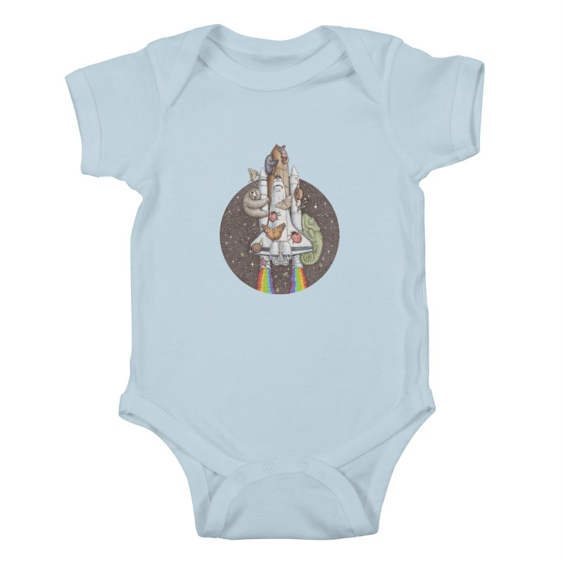 a trip to the moon Kids Baby Bodysuit by makapa's Artist Shop