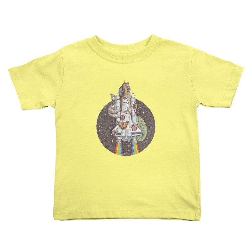 a trip to the moon Kids Toddler T-Shirt by makapa's Artist Shop