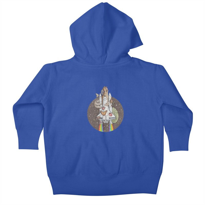 a trip to the moon Kids Baby Zip-Up Hoody by makapa's Artist Shop