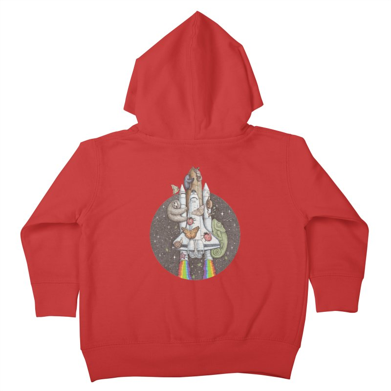 a trip to the moon Kids Toddler Zip-Up Hoody by makapa's Artist Shop