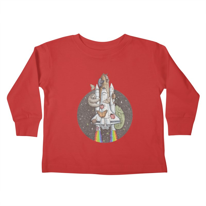 a trip to the moon Kids Toddler Longsleeve T-Shirt by makapa's Artist Shop