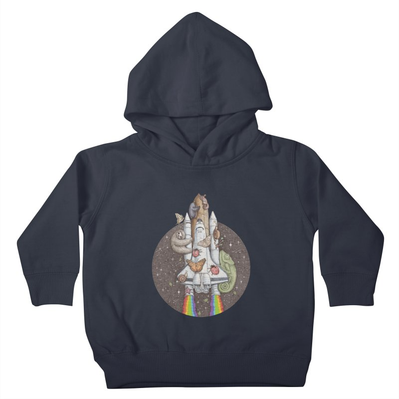 a trip to the moon Kids Toddler Pullover Hoody by makapa's Artist Shop