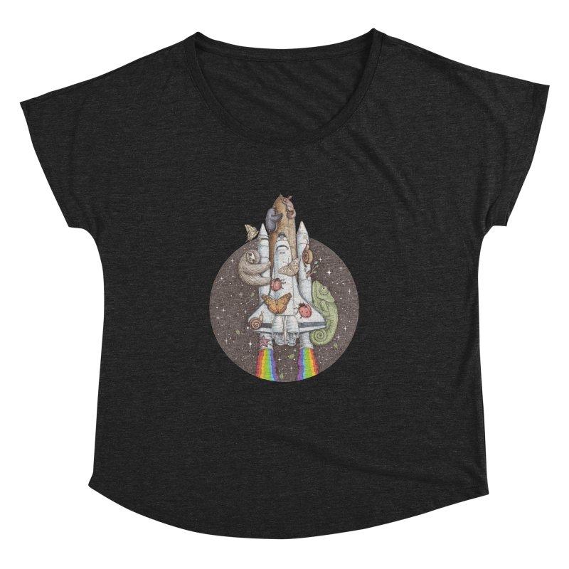 a trip to the moon Women's Dolman by makapa's Artist Shop