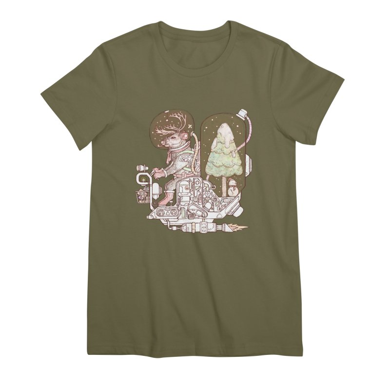 Reindeer space suits Women's Premium T-Shirt by makapa's Artist Shop
