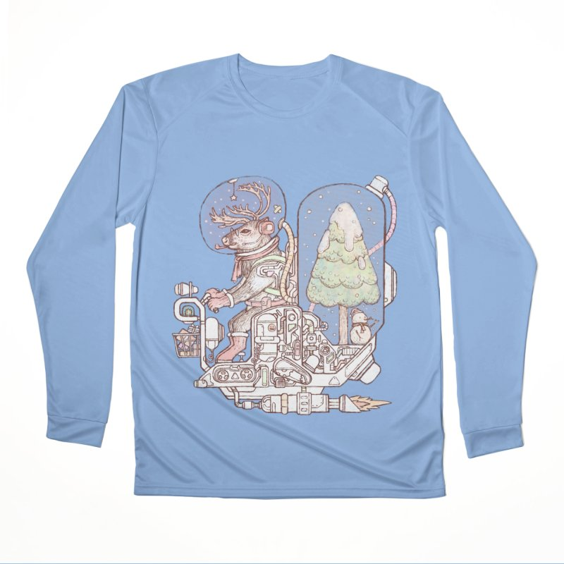 Reindeer space suits Men's Longsleeve T-Shirt by makapa's Artist Shop