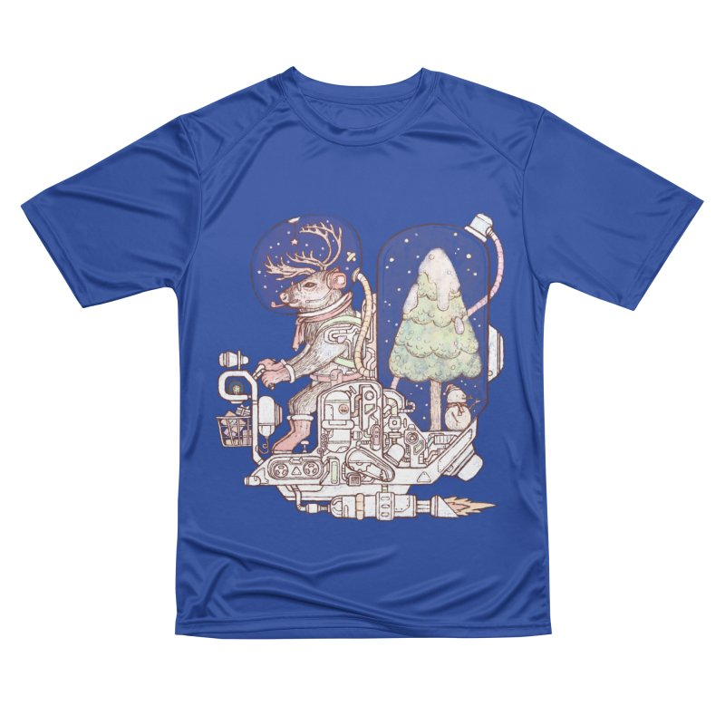 Reindeer space suits Men's Performance T-Shirt by makapa's Artist Shop