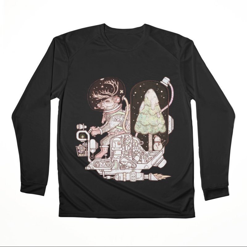 Reindeer space suits Men's Performance Longsleeve T-Shirt by makapa's Artist Shop