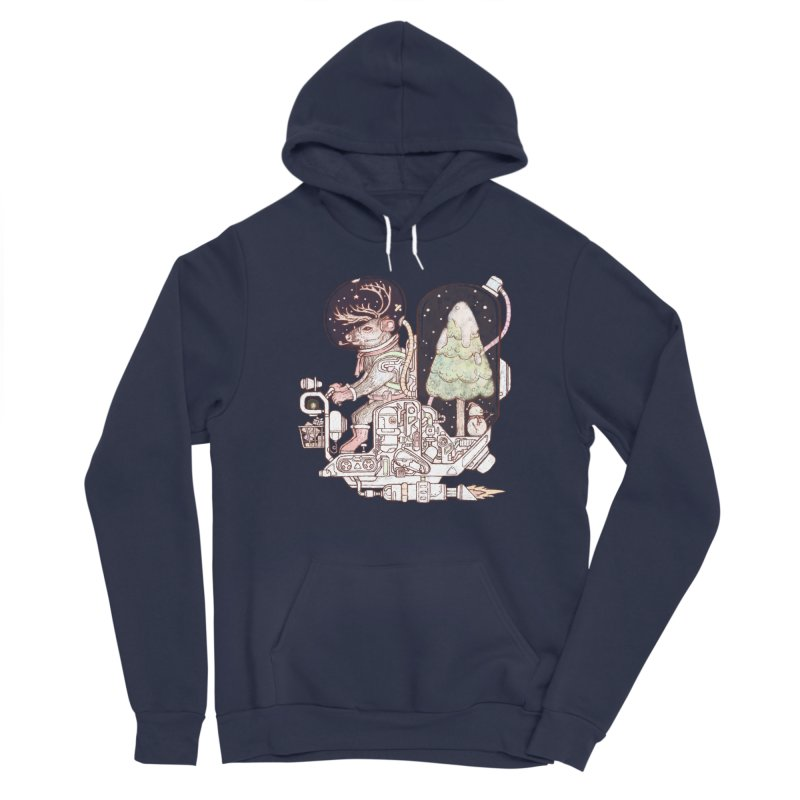 Reindeer space suits Women's Pullover Hoody by makapa's Artist Shop