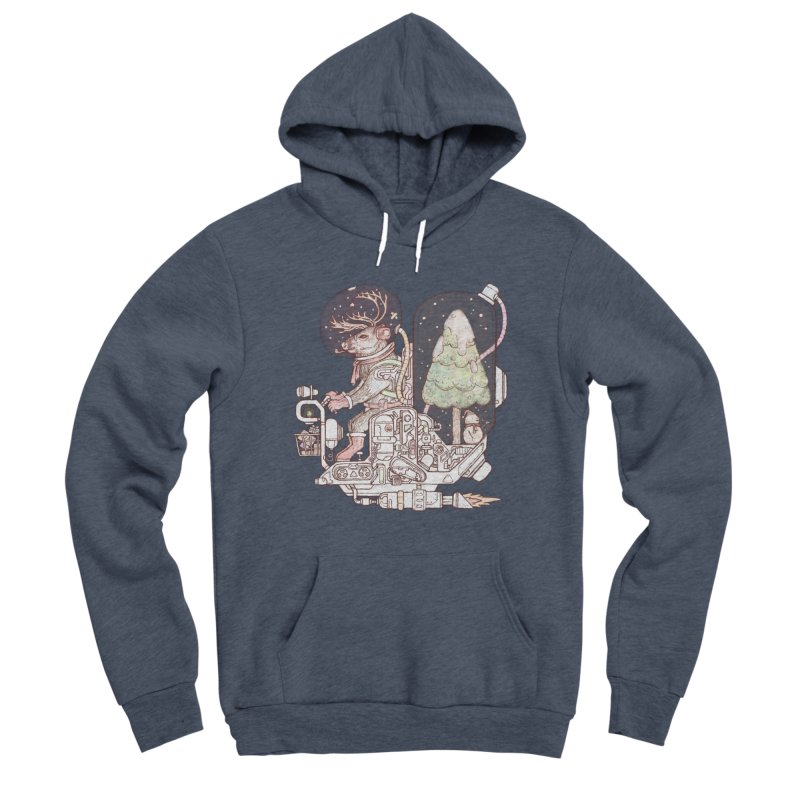 Reindeer space suits Women's Pullover Hoody by makapa's Artist Shop
