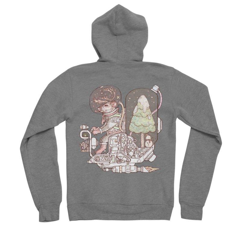 Reindeer space suits Men's Zip-Up Hoody by makapa's Artist Shop
