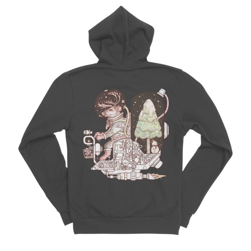 Reindeer space suits Men's Zip-Up Hoody by makapa's Artist Shop