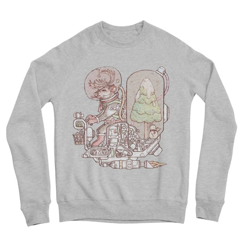 Reindeer space suits Women's Sponge Fleece Sweatshirt by makapa's Artist Shop