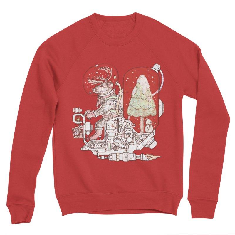 Reindeer space suits Men's Sponge Fleece Sweatshirt by makapa's Artist Shop