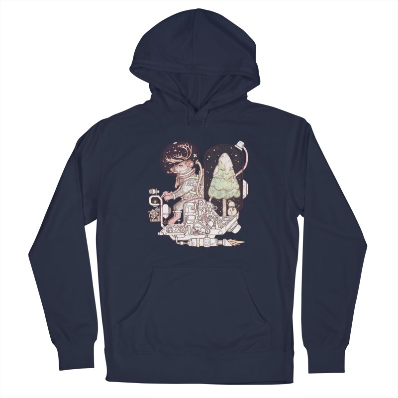 Reindeer space suits Men's French Terry Pullover Hoody by makapa's Artist Shop