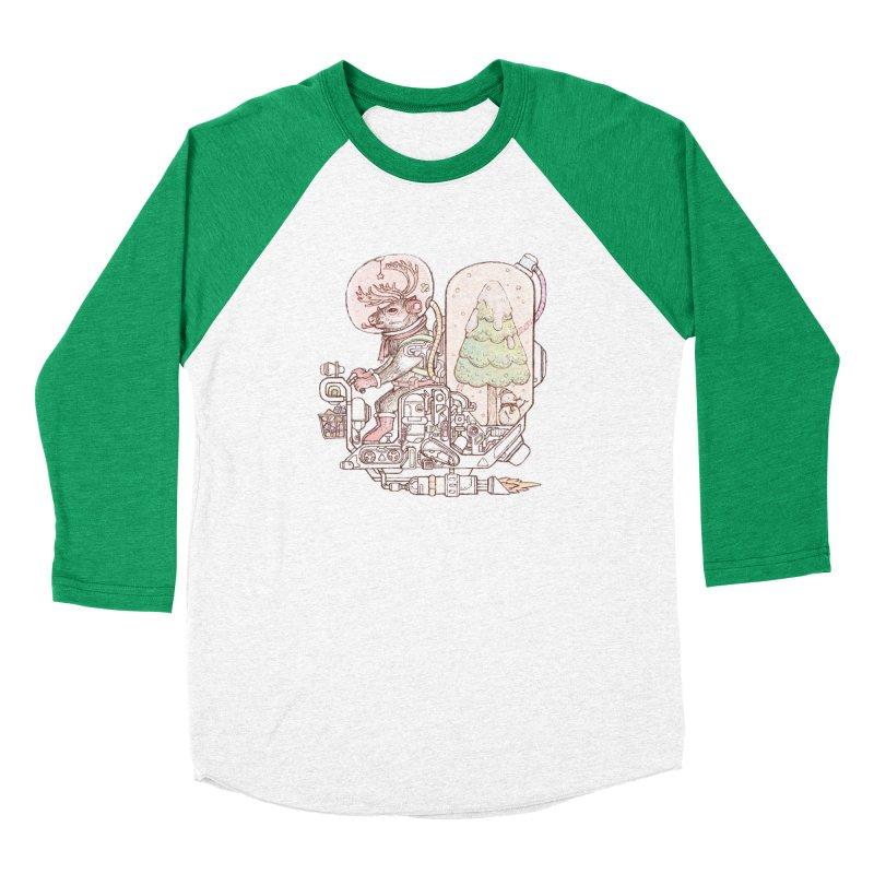 Reindeer space suits Women's Baseball Triblend Longsleeve T-Shirt by makapa's Artist Shop