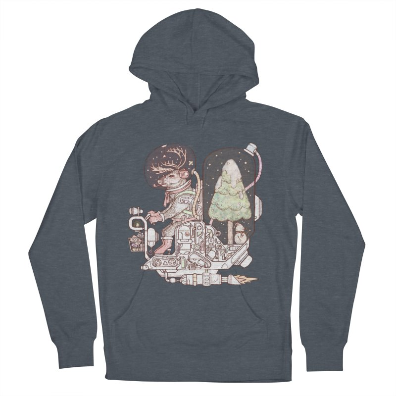 Reindeer space suits Women's French Terry Pullover Hoody by makapa's Artist Shop