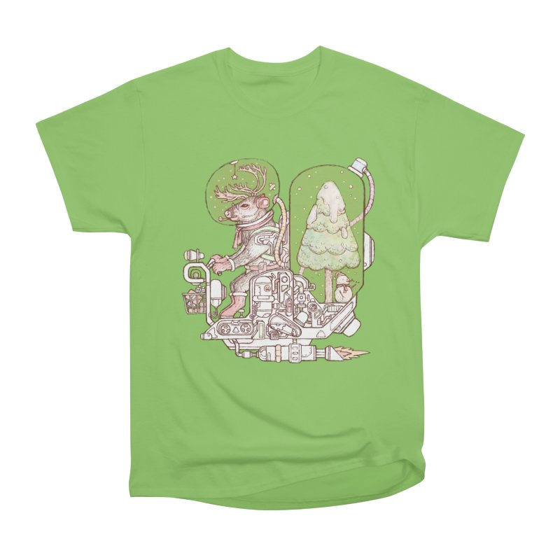 Reindeer space suits Men's Heavyweight T-Shirt by makapa's Artist Shop