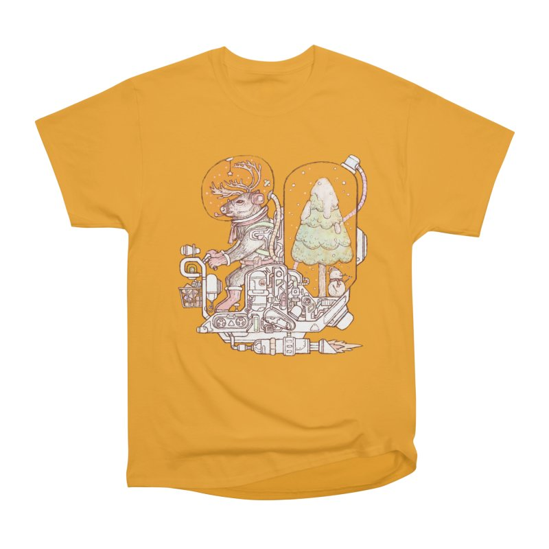 Reindeer space suits Men's Heavyweight T-Shirt by makapa's Artist Shop