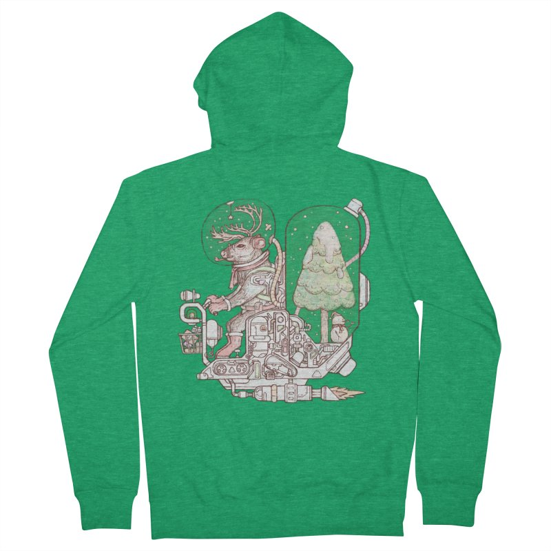 Reindeer space suits Women's Zip-Up Hoody by makapa's Artist Shop