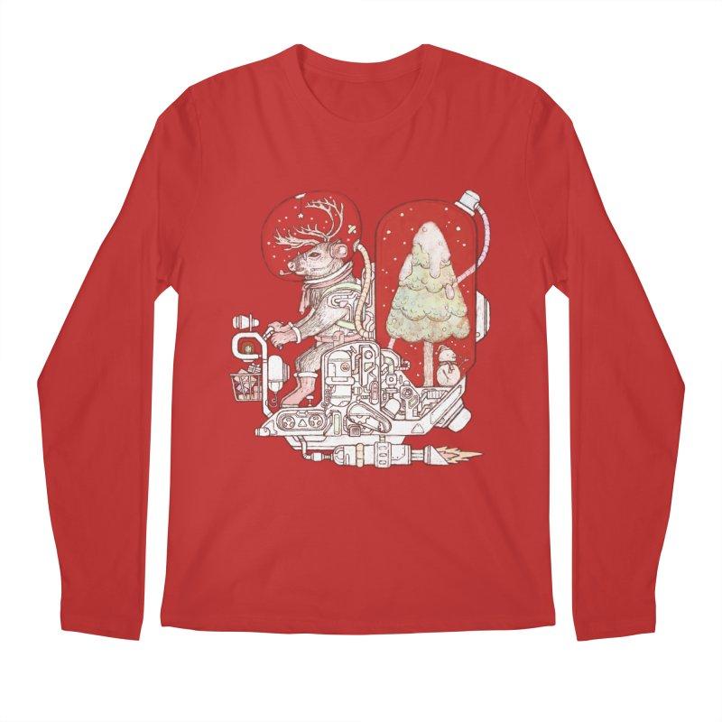 Reindeer space suits Men's Regular Longsleeve T-Shirt by makapa's Artist Shop