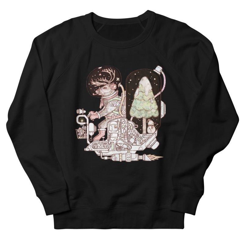 Reindeer space suits Women's French Terry Sweatshirt by makapa's Artist Shop