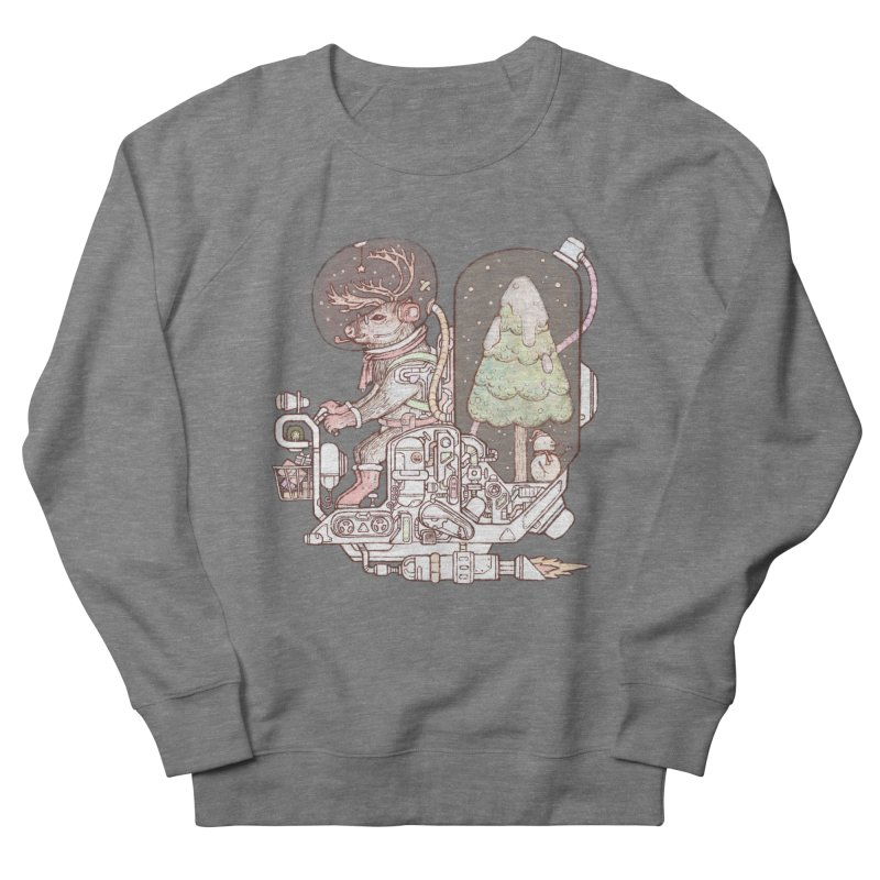 Reindeer space suits Men's French Terry Sweatshirt by makapa's Artist Shop