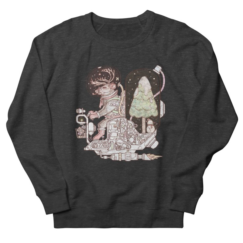 Reindeer space suits Men's French Terry Sweatshirt by makapa's Artist Shop