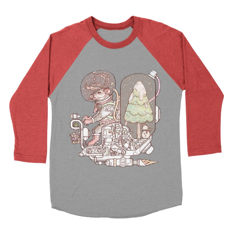 Reindeer space suits Women's Baseball Triblend Longsleeve T-Shirt by makapa's Artist Shop