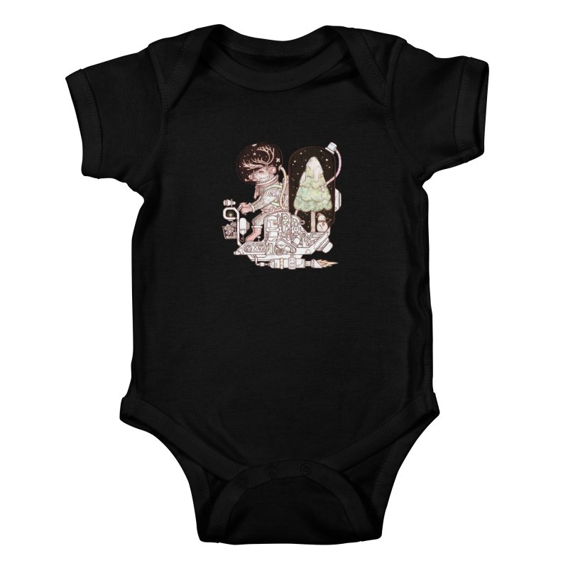 Reindeer space suits Kids Baby Bodysuit by makapa's Artist Shop