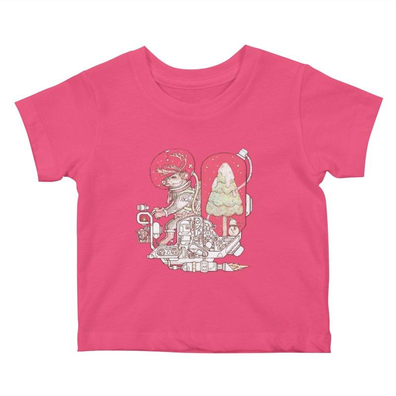 Reindeer space suits Kids Baby T-Shirt by makapa's Artist Shop