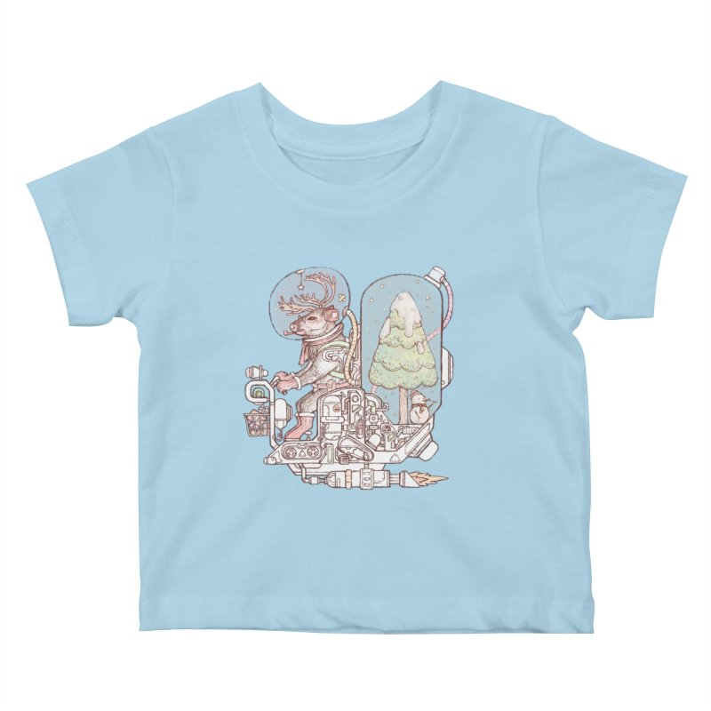 Reindeer space suits Kids Baby T-Shirt by makapa's Artist Shop