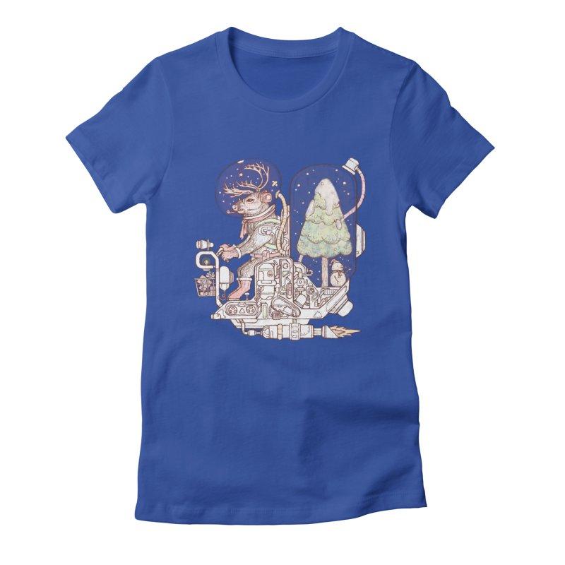 Reindeer space suits Women's T-Shirt by makapa's Artist Shop